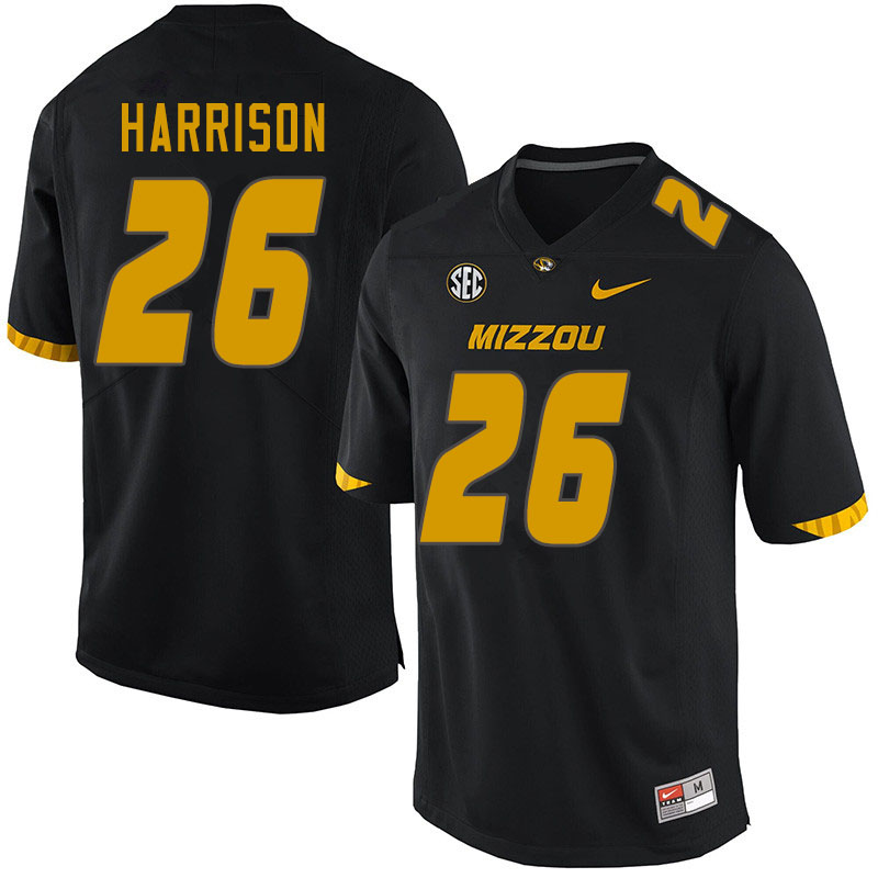 Men #26 Aidan Harrison Missouri Tigers College Football Jerseys Sale-Black