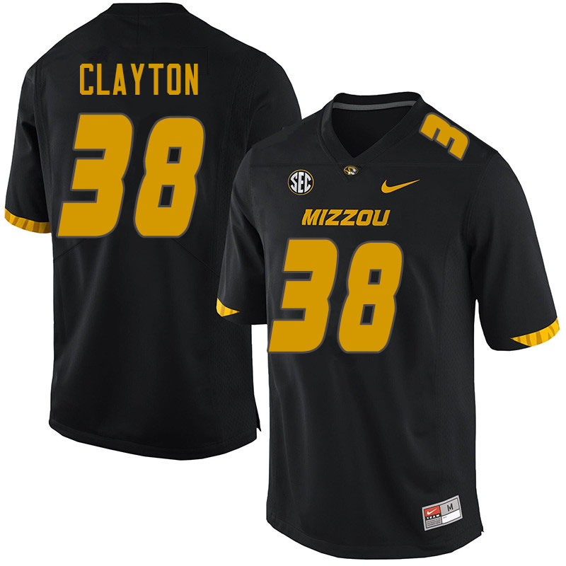Men #38 Bryson Clayton Missouri Tigers College Football Jerseys Sale-Black