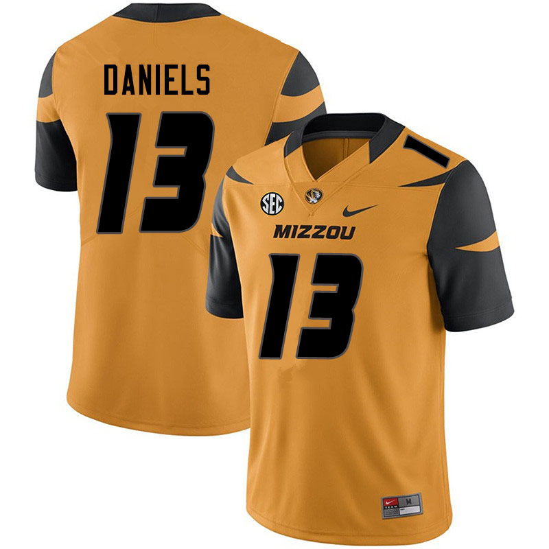 Men #13 Chris Daniels Missouri Tigers College Football Jerseys Sale-Yellow