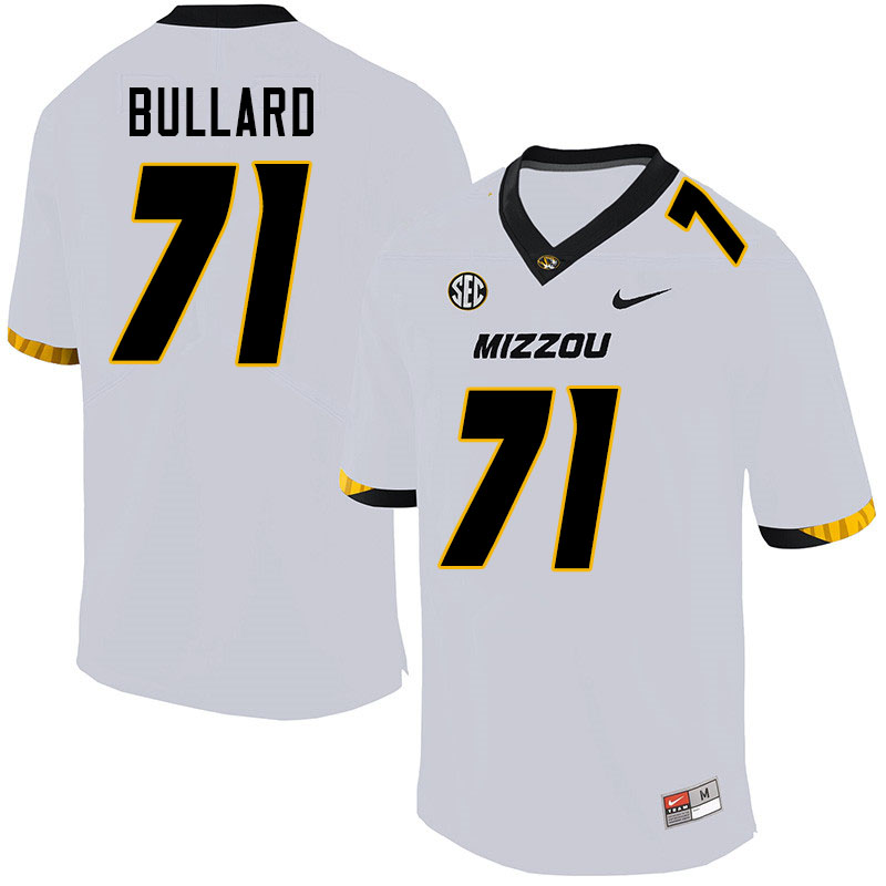 Men #71 D.J. Bullard Missouri Tigers College Football Jerseys Sale-White