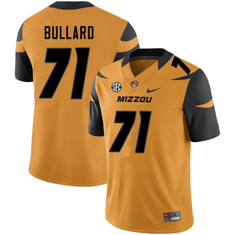 Men #71 D.J. Bullard Missouri Tigers College Football Jerseys Sale-Yellow