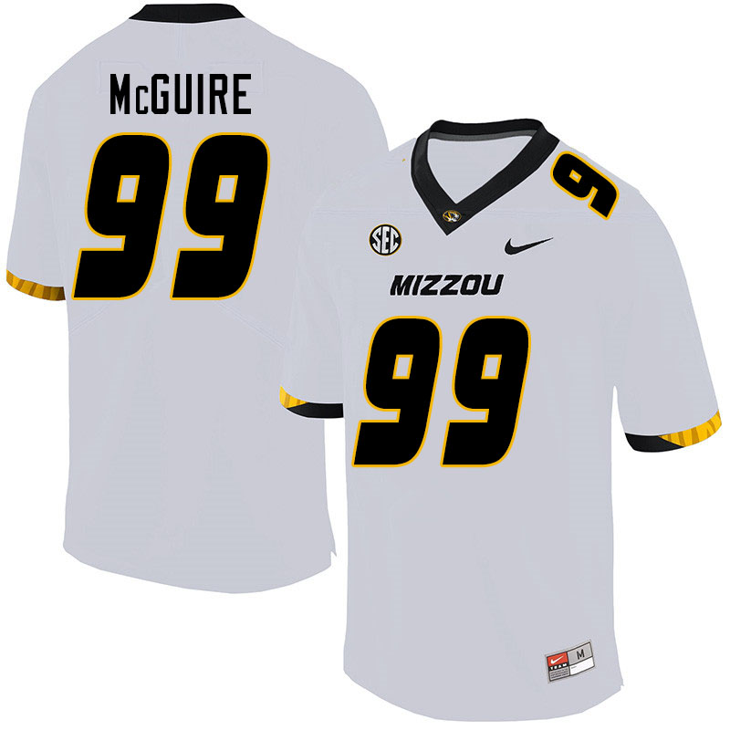 Men #99 Isaiah McGuire Missouri Tigers College Football Jerseys Sale-White