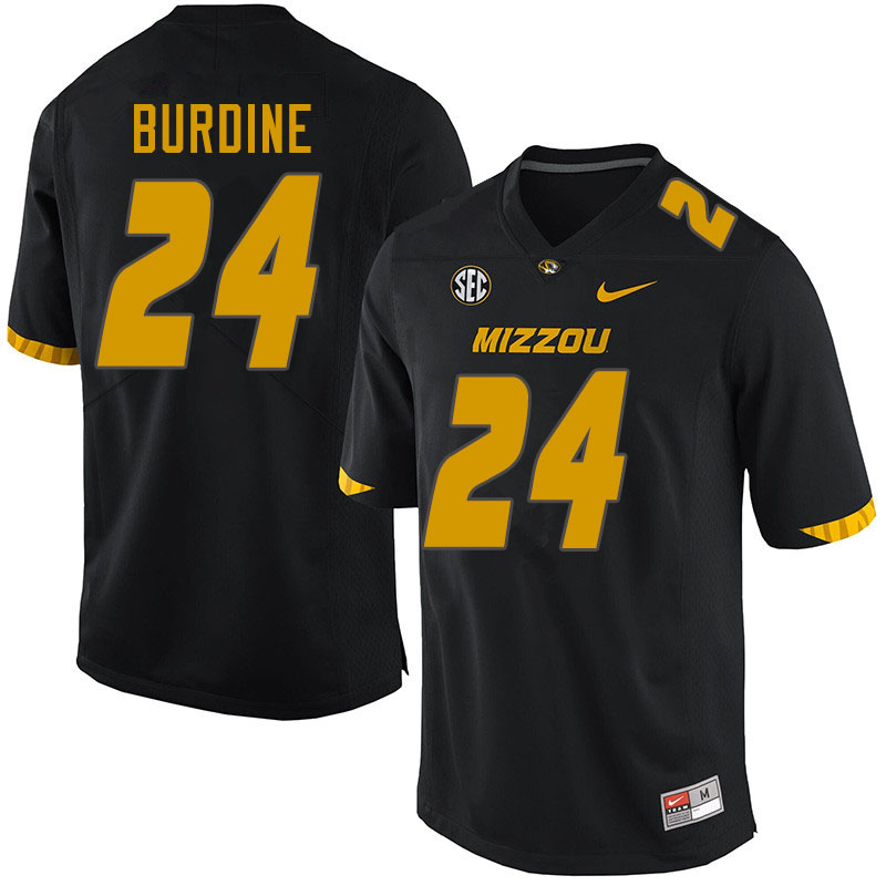 Men #24 Ishmael Burdine Missouri Tigers College Football Jerseys Sale-Black