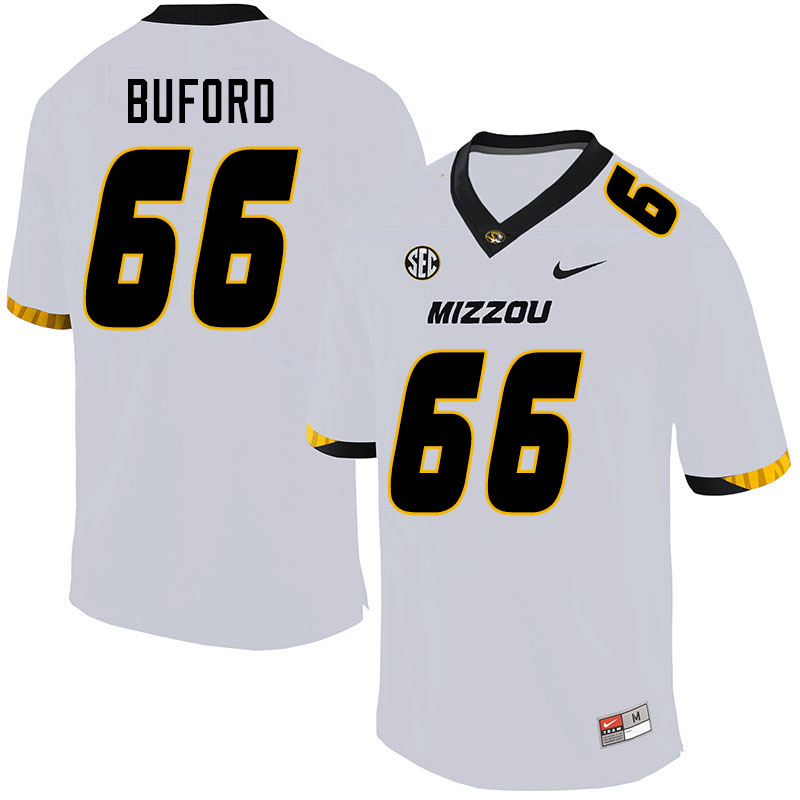 Men #66 Jack Buford Missouri Tigers College Football Jerseys Sale-White