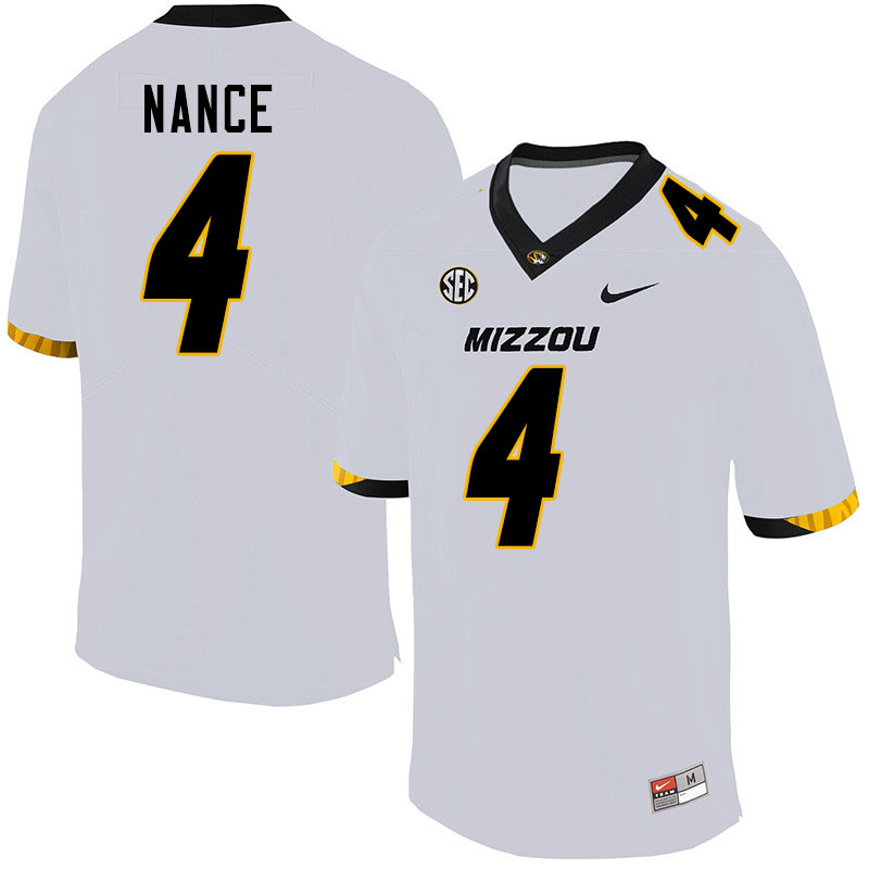 Men #4 Jonathan Nance Missouri Tigers College Football Jerseys Sale-White