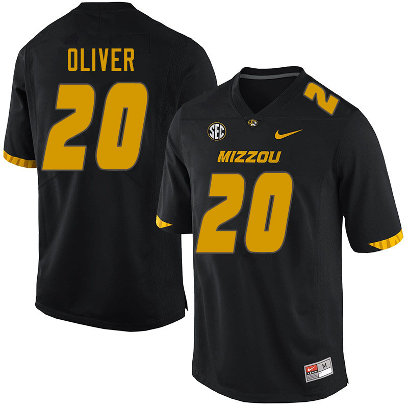 Men #20 Khalil Oliver Missouri Tigers College Football Jerseys Sale-Black