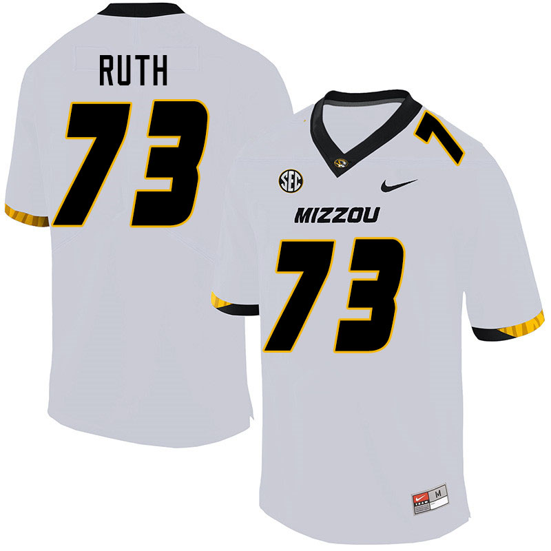Men #73 Mike Ruth Missouri Tigers College Football Jerseys Sale-White