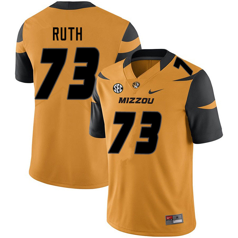 Men #73 Mike Ruth Missouri Tigers College Football Jerseys Sale-Yellow