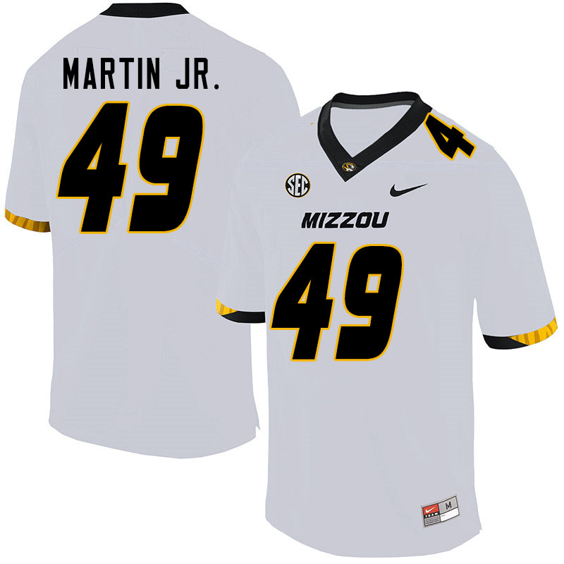 Men #49 Sci Martin Jr. Missouri Tigers College Football Jerseys Sale-White