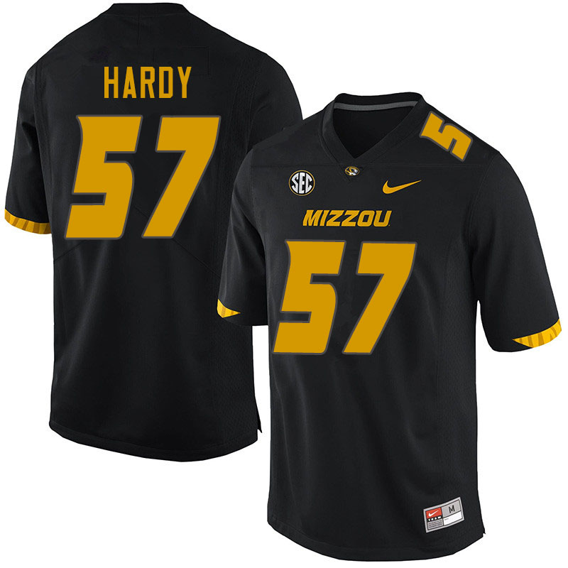 Men #57 Steven Hardy Missouri Tigers College Football Jerseys Sale-Black