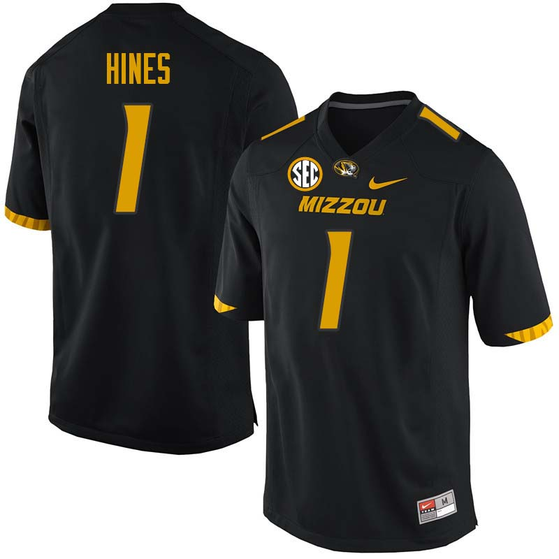 Men #1 Anthony Hines Missouri Tigers College Football Jerseys Sale-Black