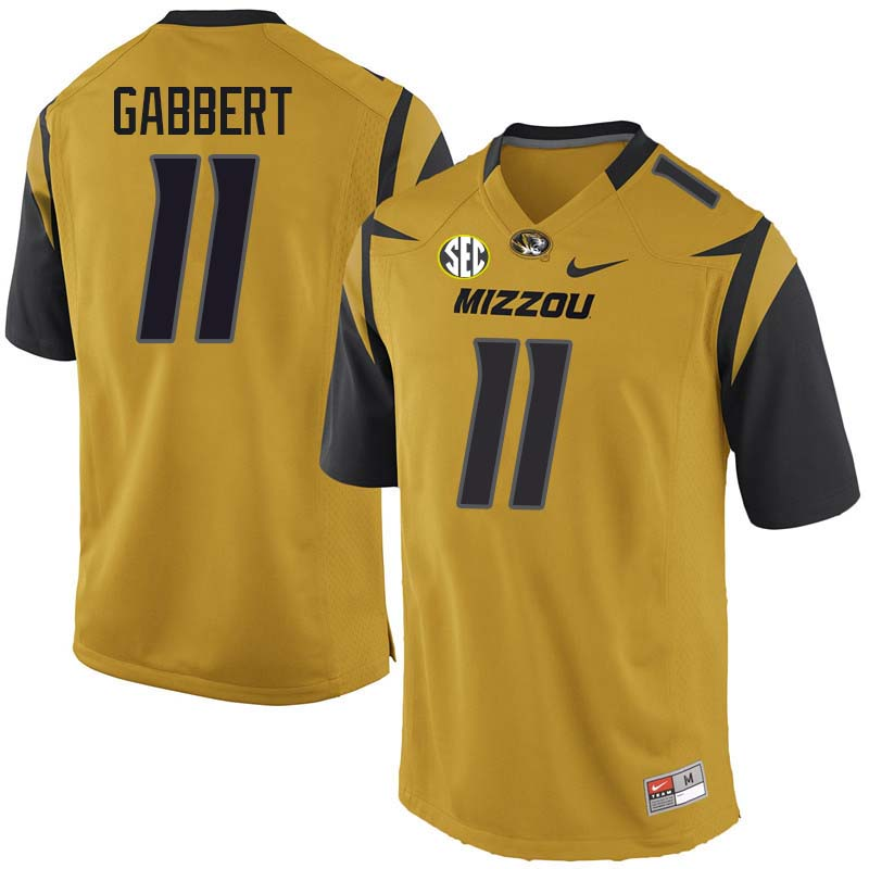 Men #11 Blaine Gabbert Missouri Tigers College Football Jerseys Sale-Yellow