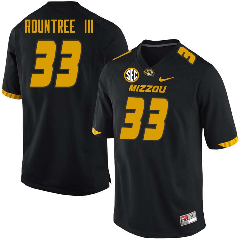 Men #33 Larry Rountree III Missouri Tigers College Football Jerseys Sale-Black
