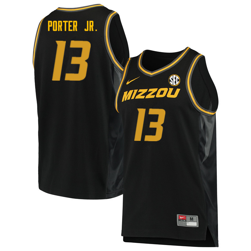 Men #13 Michael Porter Jr. Missouri Tigers College Basketball Jerseys Sale-Black