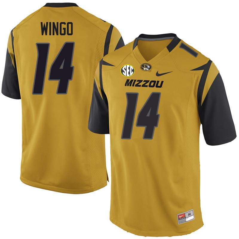 Men #14 Raymond Wingo Missouri Tigers College Football Jerseys Sale-Yellow