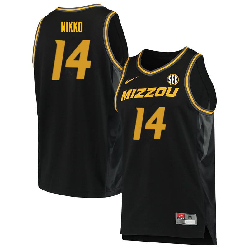 Men #14 Reed Nikko Missouri Tigers College Basketball Jerseys Sale-Black