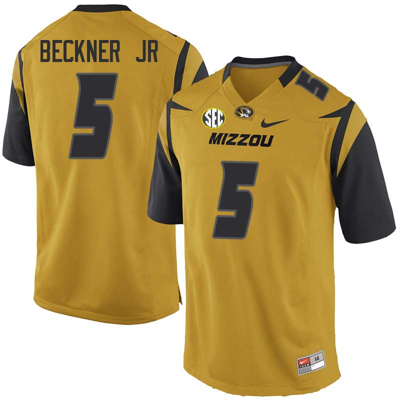 Men #5 Terry Beckner Jr Missouri Tigers College Football Jerseys Sale-Yellow