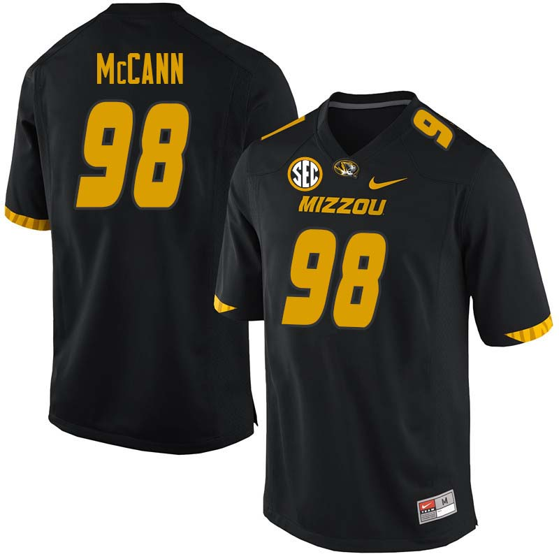 Men #98 Tucker McCann Missouri Tigers College Football Jerseys Sale-Black