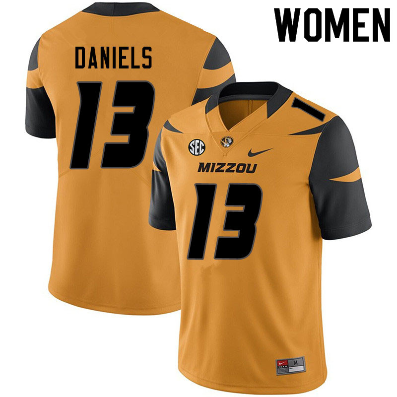 Women #13 Chris Daniels Missouri Tigers College Football Jerseys Sale-Yellow