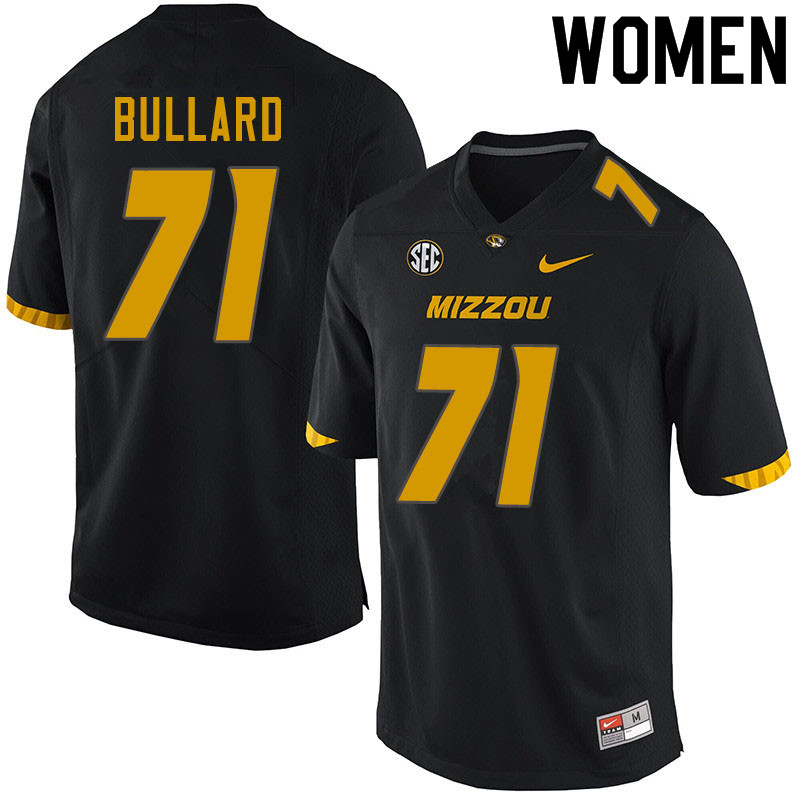 Women #71 D.J. Bullard Missouri Tigers College Football Jerseys Sale-Black