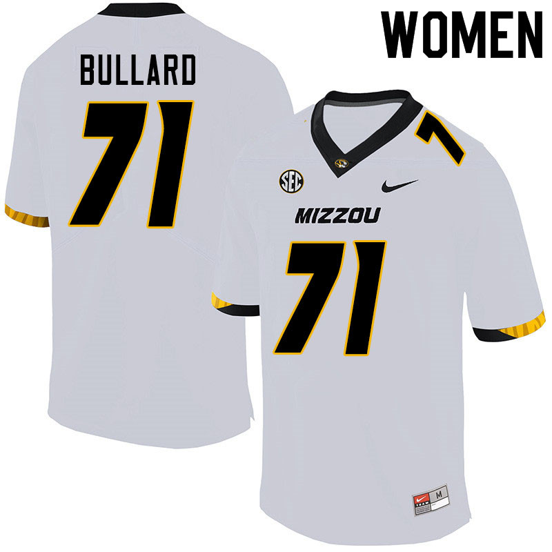 Women #71 D.J. Bullard Missouri Tigers College Football Jerseys Sale-White