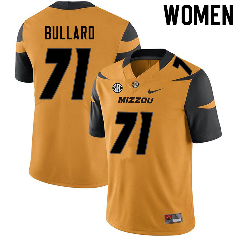 Women #71 D.J. Bullard Missouri Tigers College Football Jerseys Sale-Yellow