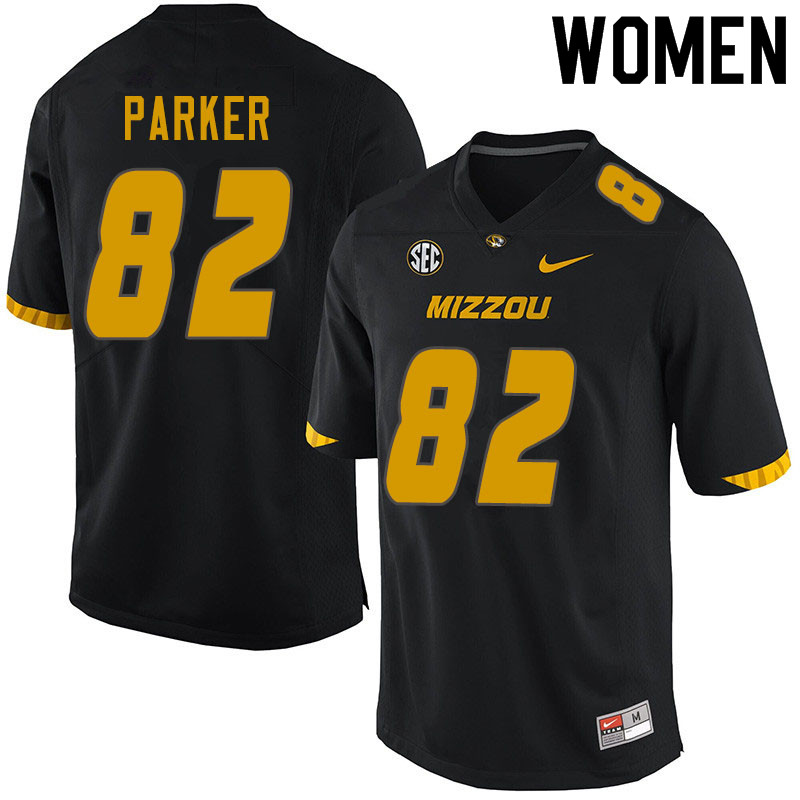 Women #82 Daniel Parker Missouri Tigers College Football Jerseys Sale-Black