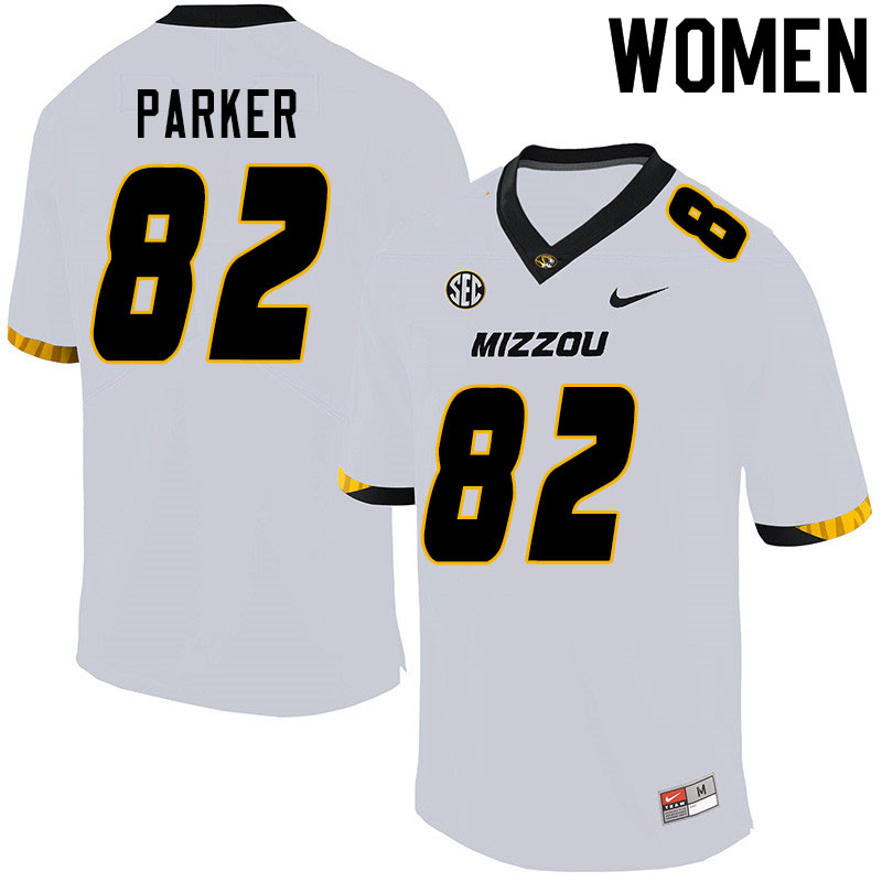 Women #82 Daniel Parker Missouri Tigers College Football Jerseys Sale-White