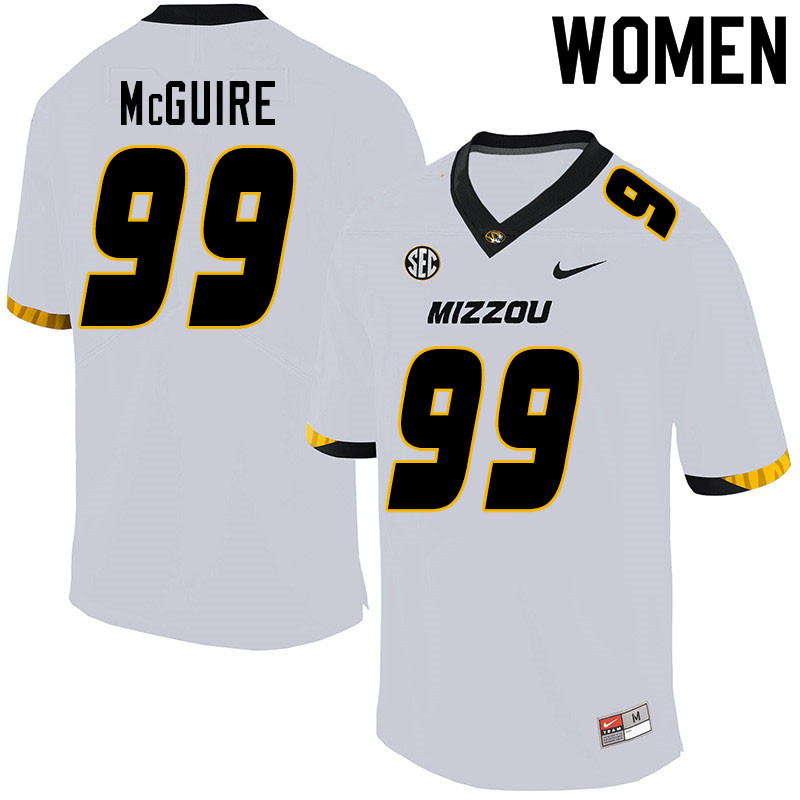 Women #99 Isaiah McGuire Missouri Tigers College Football Jerseys Sale-White