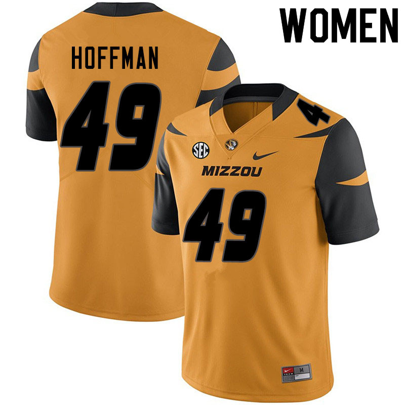 Women #49 Jake Hoffman Missouri Tigers College Football Jerseys Sale-Yellow