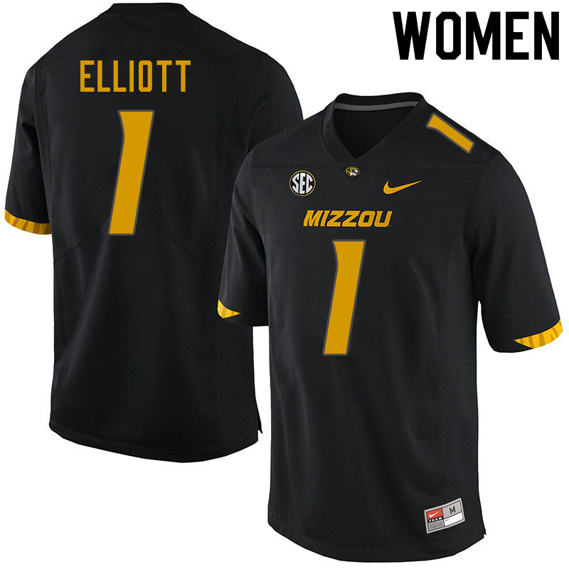 Women #1 Jordan Elliott Missouri Tigers College Football Jerseys Sale-Black