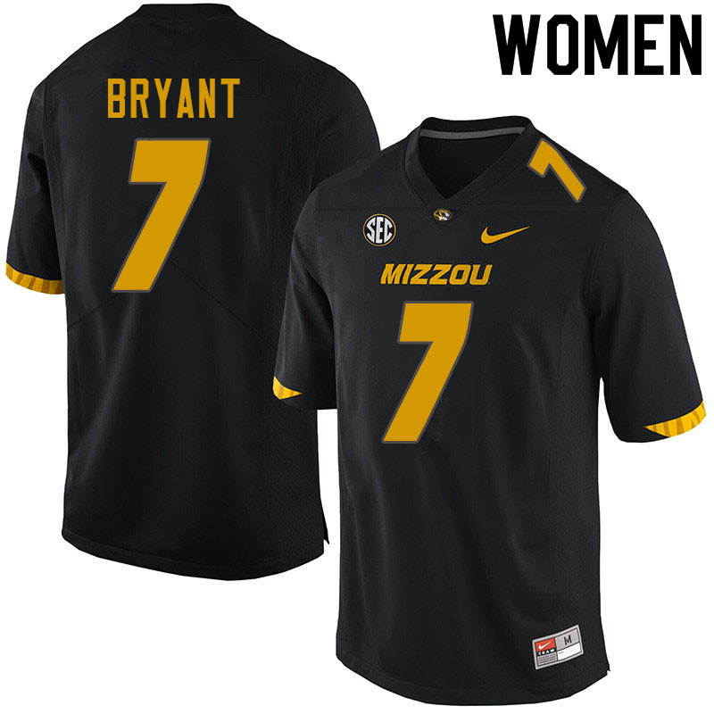 Women #7 Kelly Bryant Missouri Tigers College Football Jerseys Sale-Black