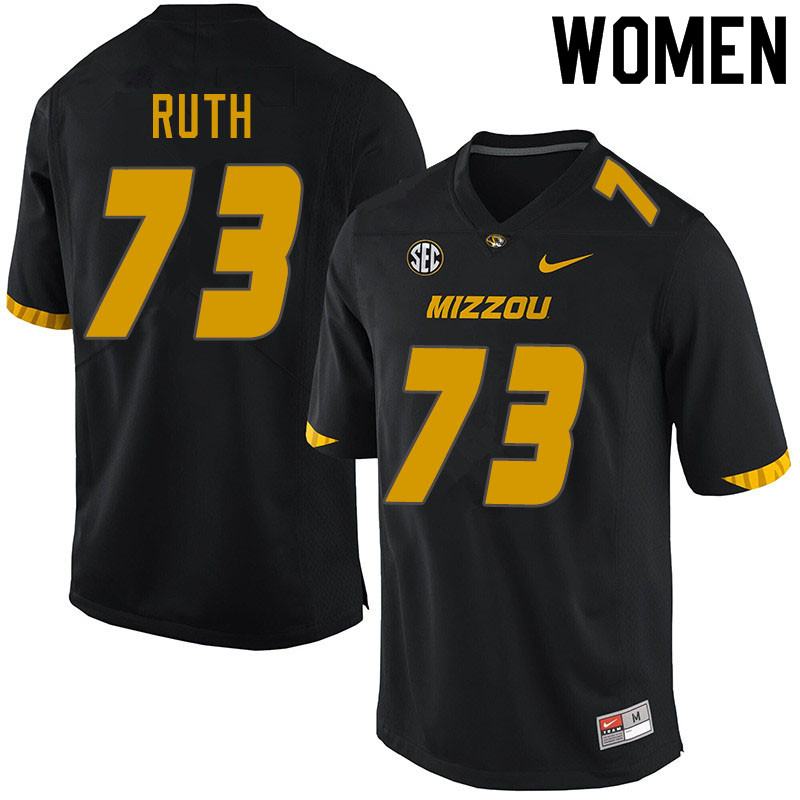 Women #73 Mike Ruth Missouri Tigers College Football Jerseys Sale-Black