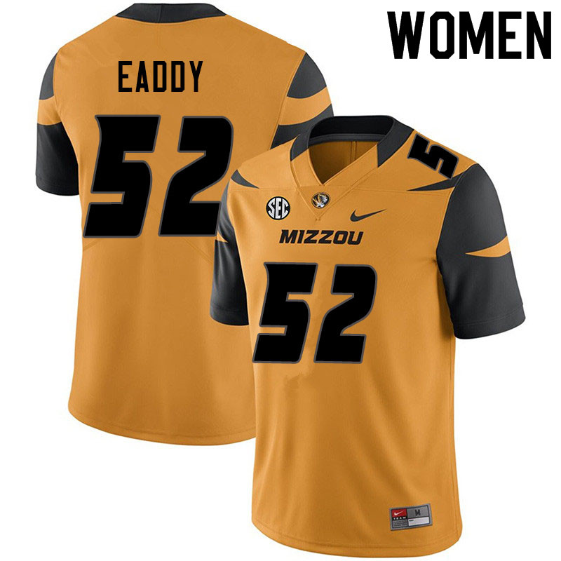 Women #52 Myles Eaddy Missouri Tigers College Football Jerseys Sale-Yellow