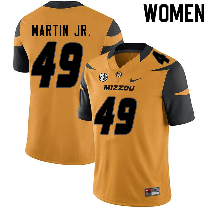 Women #49 Sci Martin Jr. Missouri Tigers College Football Jerseys Sale-Yellow