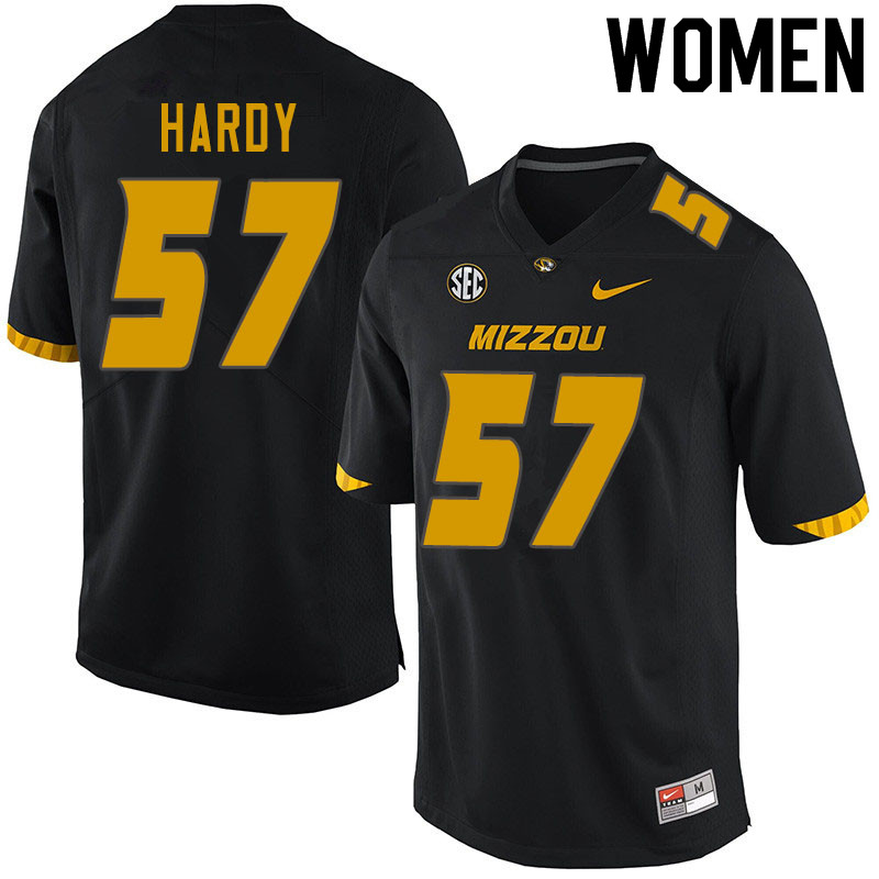 Women #57 Steven Hardy Missouri Tigers College Football Jerseys Sale-Black