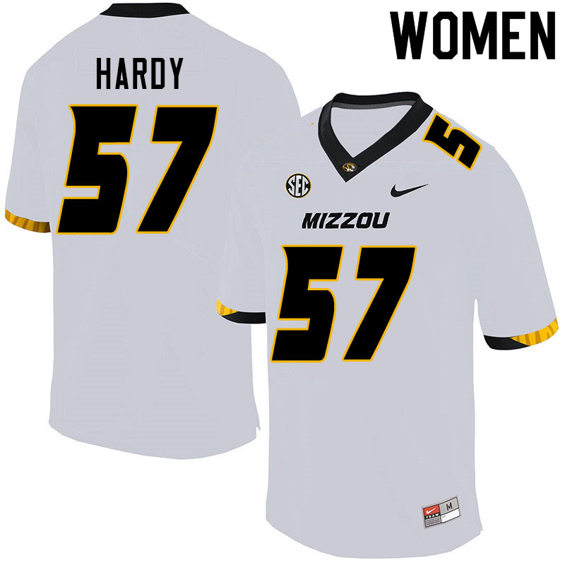 Women #57 Steven Hardy Missouri Tigers College Football Jerseys Sale-White