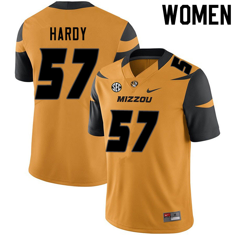 Women #57 Steven Hardy Missouri Tigers College Football Jerseys Sale-Yellow