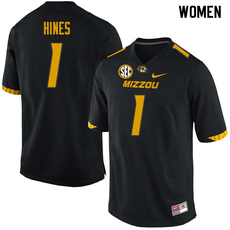 Women #1 Anthony Hines Missouri Tigers College Football Jerseys Sale-Black