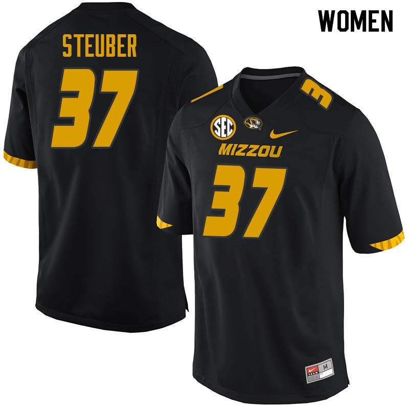 Women #37 Bob Steuber Missouri Tigers College Football Jerseys Sale-Black