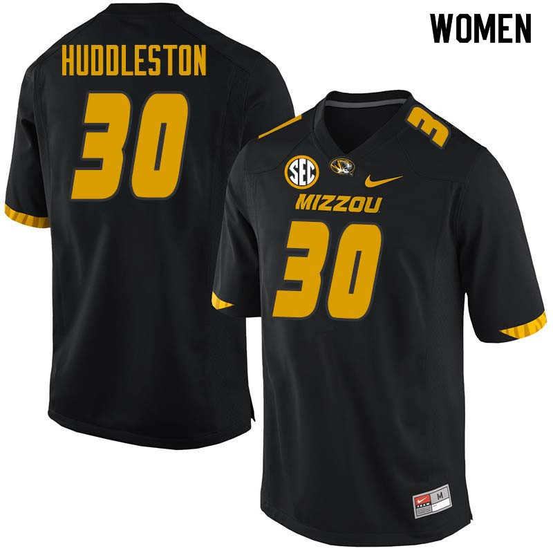Women #30 Carrington Huddleston Missouri Tigers College Football Jerseys Sale-Black