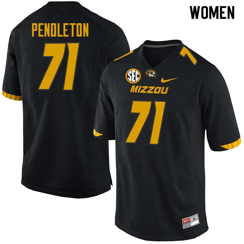 Women #71 Kevin Pendleton Missouri Tigers College Football Jerseys Sale-Black