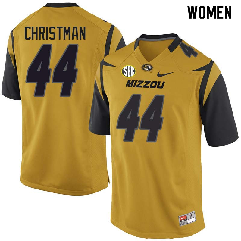 Women #44 Paul Christman Missouri Tigers College Football Jerseys Sale-Yellow