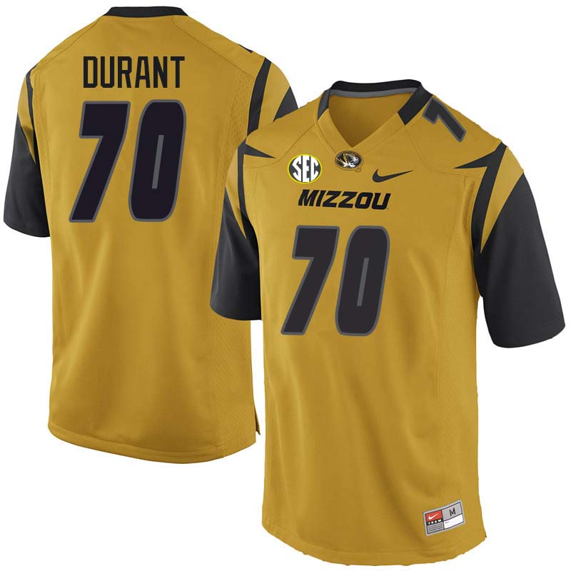 Men #70 Yasir Durant Missouri Tigers College Football Jerseys Sale-Yellow