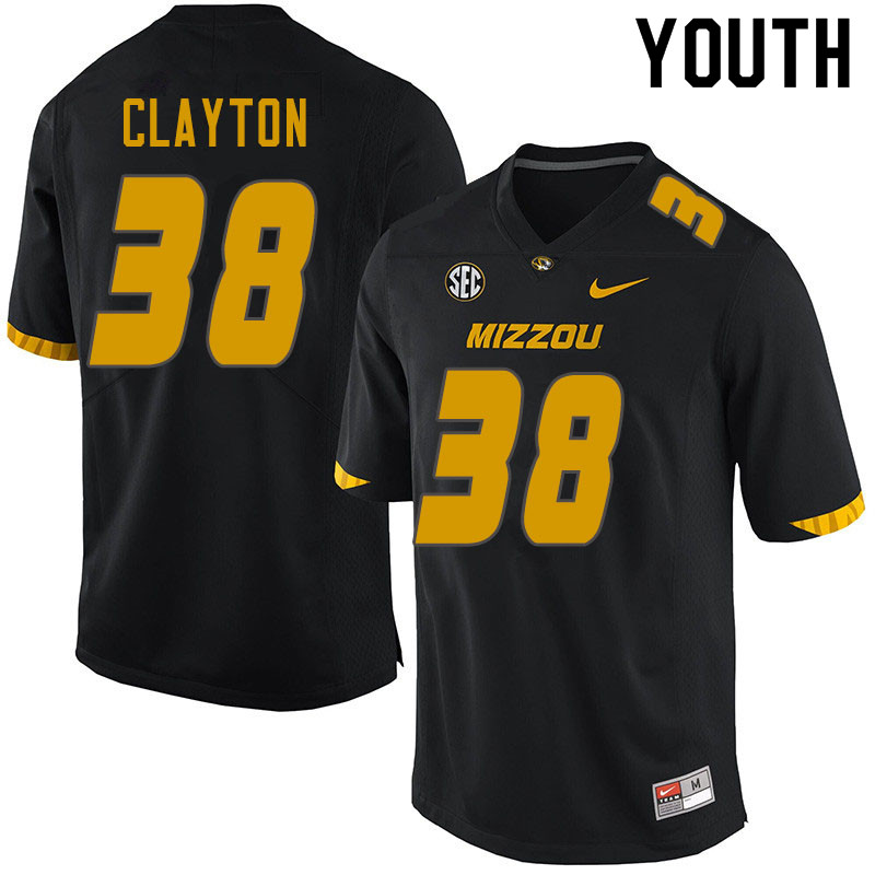 Youth #38 Bryson Clayton Missouri Tigers College Football Jerseys Sale-Black