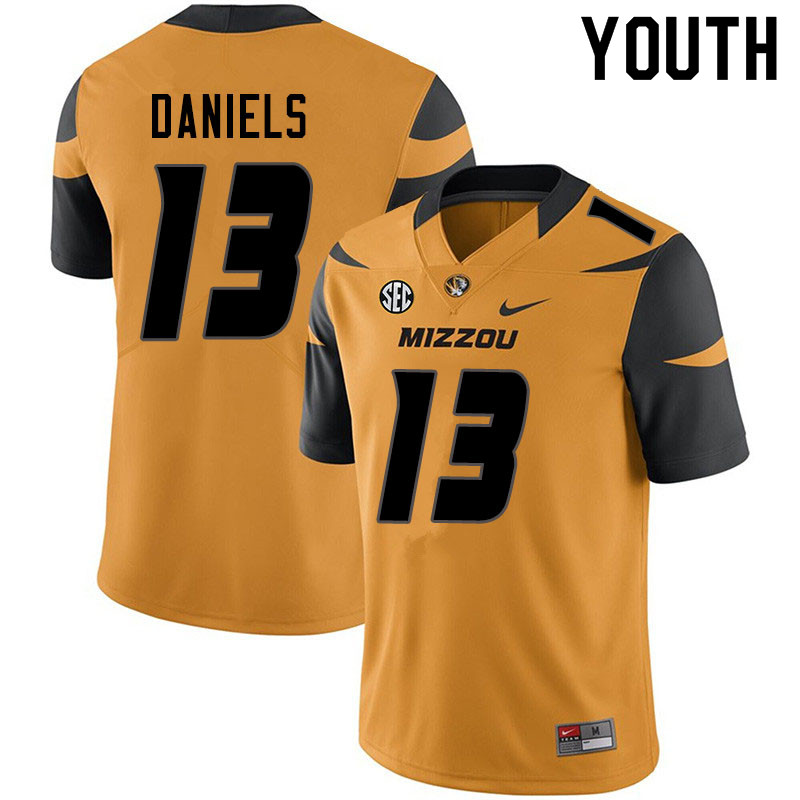 Youth #13 Chris Daniels Missouri Tigers College Football Jerseys Sale-Yellow