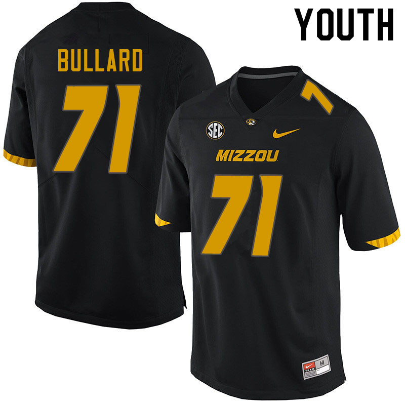 Youth #71 D.J. Bullard Missouri Tigers College Football Jerseys Sale-Black