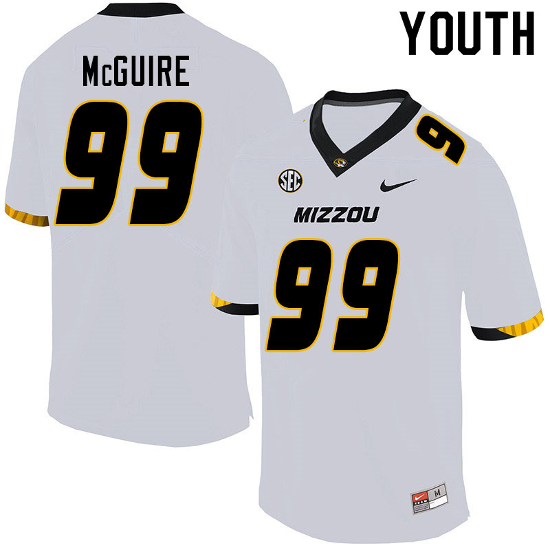 Youth #99 Isaiah McGuire Missouri Tigers College Football Jerseys Sale-White