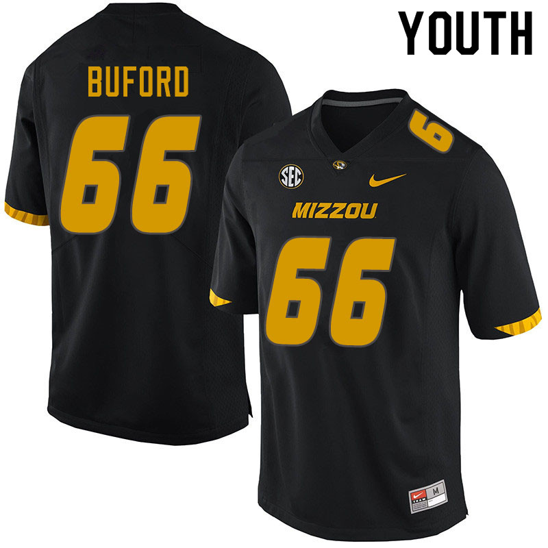 Youth #66 Jack Buford Missouri Tigers College Football Jerseys Sale-Black