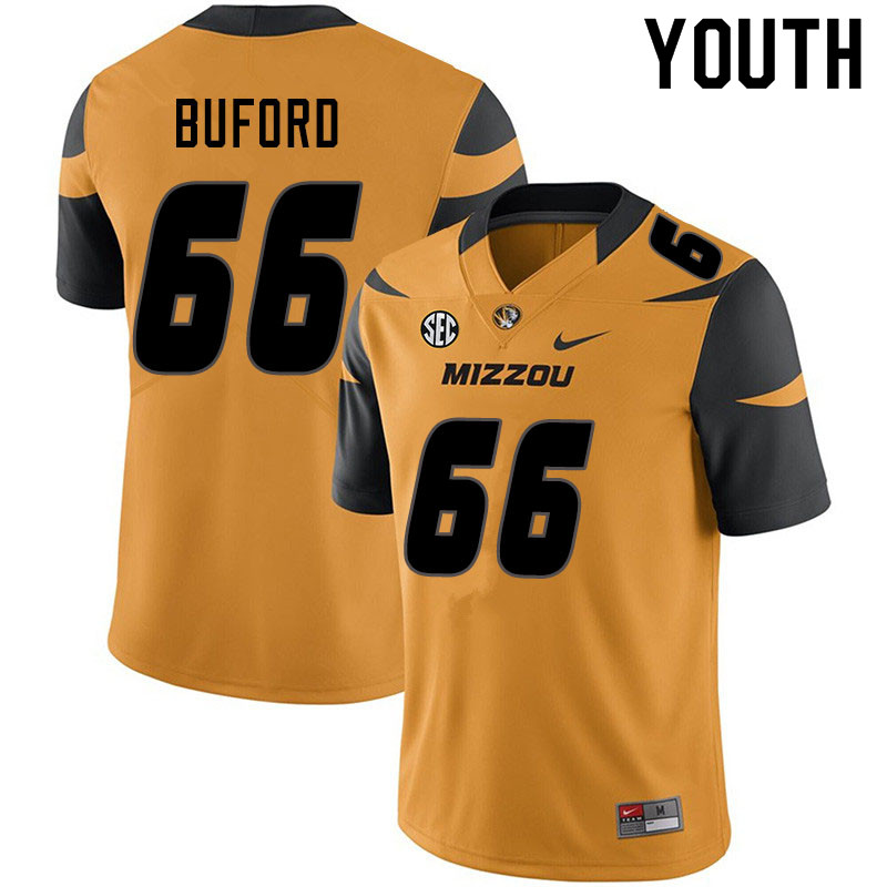 Youth #66 Jack Buford Missouri Tigers College Football Jerseys Sale-Yellow